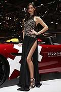 Sexy hostess in 2016 Geneva Motor Show