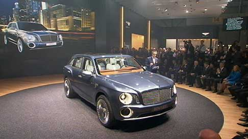 Bentley - bentleysuv concept EXP 9F al press day di Ginevra 2012
