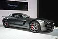 Supercar Mercedes-Benz SLS AMG GT Final Edition driving performance at the Los Angeles Auto Show 2013