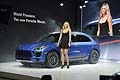 Maria Sharapova and new Suv Porsche Macan world debut at the LA Auto Show 2013