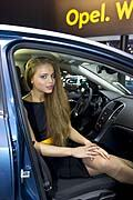 Hostess allo stand Vauxhall-Opel at the Moscow Motor Show 2012