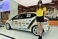 Renault Clio racing car e hostess al Motor Show di Bologna 2016