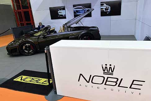 Supercar Motor Show 2016 - Noble M600 Speedster supercar inglese protagonista al Motor Show