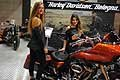 Beautiful hostess stand Harley Davidson al Motor Show di Bologna 2017