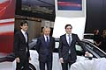 Press day i manager di Audi che hanno presentato lo stand
