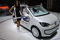 Hostess e Auto Volkswagen Up! Azzurra Concept sailing team