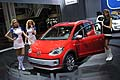 Girls e auto Volkswagen Cross Up! al Motorshow di Bologna 2011