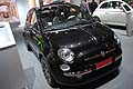 Anteriore Fiat 500 by Gucci black color al Salone di Bologna 2011