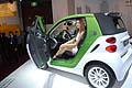 Auto elettrica Smart EV e hostess al Motor Show 2011