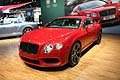 Auto lussuosa Bentley Continental GTC V8 red al New York Auto Show 2012