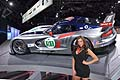 Dodge SRT Viper Race Car hostess al New York Auto Show 2012