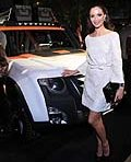 Land Rover celebrated 25 years in North America during the 2012 New York Auto Show in New York City. Marchesa Co-Founder Georgina Chapman was on hand at the celebratory event.