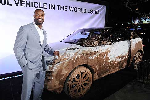 Land Rover - Land Rover celebrated 25 years in North America during the 2012 New York Auto Show in New York City. New York Jets star Bart Scott was on hand at the celebratory event.