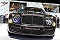 Bentley Mulsanne Speed particolare frontale al Salone internazionale dell'auto di Parigi 2014