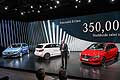 Dr Dieter Zetsche presents the new Mercedes-Benz B-Class at the Paris Motor Show 2014