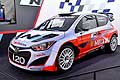Hyundai i20 race cars at the Paris Motor Show 2014