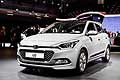 Hyundai i20 white at the Paris Motorshow 2014