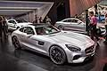 Mercedes AMG GT grey at the Paris Motor Show 2014