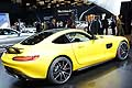 Mercedes AMG GT yellow posteriore all'International Motor Show di Parigi 2014