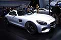 Mercedes AMG-GT supercar white al Mondial Automobile di Parigi 2014