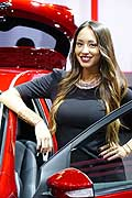 Hostess at the Paris Motor Show 2014