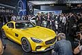 new Mercedes AMG GT press conference at the Paris Motor Show 2014
