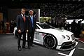 Bentley Continental GT3 - Bentley Chairman and Chief Executive, Dr. Wolfgang Schreiber with Rt Hon Michael Fallon MP