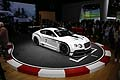 Auto racing Bentley Continental GT3 vista top al Salone di Parigi 2012