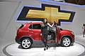 Chevrolet Trax e hostess al Parigi Motor Show 2012