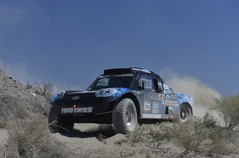 Dakar 2014 - Dakar 2014 2^ tappa car Chevrolet Jefferies driver Chicherit Guerlain e co-drive Winocq Alexandre