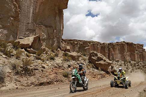 Calama - Cachi - Dakar 2015 - Rallye Raid 10° stage action bike and quad
