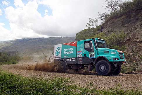 Termas de Rio Hondo - Rosario - De Rooy Gerard Iveco action during the Dakar 2015