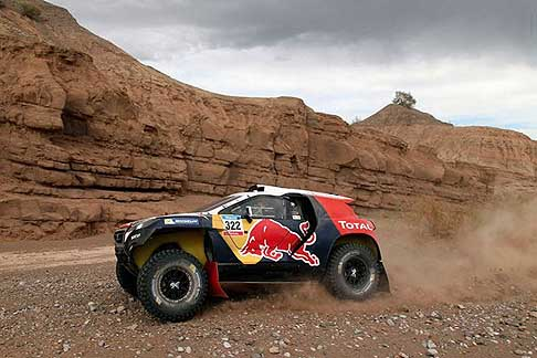 San Juan - Chilecito - Despres Cyril and Picard Gilles on Peugeot action during the Dakar 2015