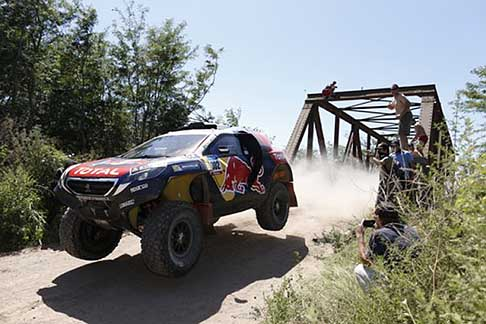 Buenos Aires - Villa Carlos Paz - Duo Peterhansel Stephane - Cottret Jean Paul on Peugeot action during the Dakar 2015 -1° stage