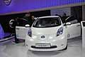 Nissan Leaf frontale white