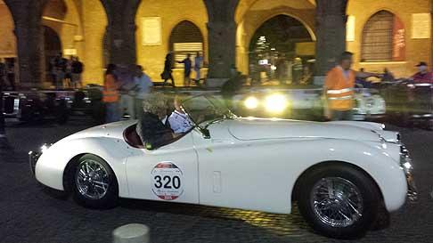 1000miglia Old Cars Jaguar Xk 120 Ots Roadster Duo Italiano Mion Luigi E Dal Bosco Roberto